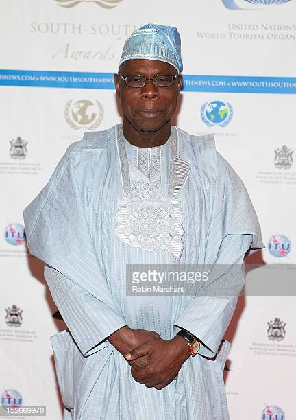 Former President of Nigeria Olusegun Obasanjo attends the 2012 SouthSouth Awards at The Waldorf=Astoria on September 23 2012 in New York City
