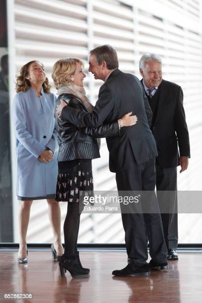 Former President of Spain Felipe Gonzalez former President of Spain Jose Luiz Rodriguez Zapatero and Esperanza Aguirre attend the delivery ceremony...