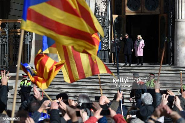 Former President of the Catalan Government and leader of Partit Democrata Europeu Catala PDECAT Artur Mas former Catalan vicepresident of Catalan...