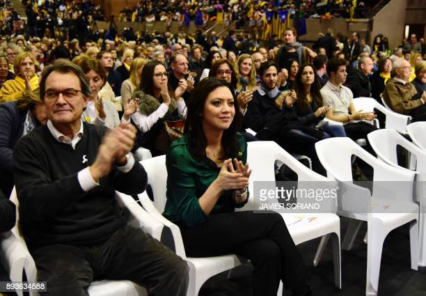 Former President of the Catalan Government and leader of 'Partit Democrata Europeu Catala' PDECAT Artur Mas and Marcela Topor wife of 'Junts per...