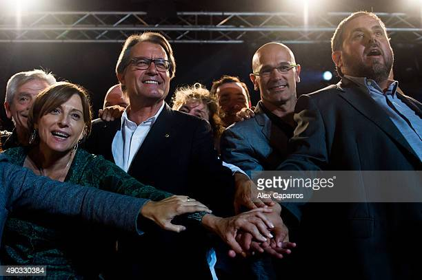 Former President of the Catalan National Assembly 'Assemblea Nacional Catalana' Carme Forcadell President of Catalonia Artur Mas leader of Catalan...