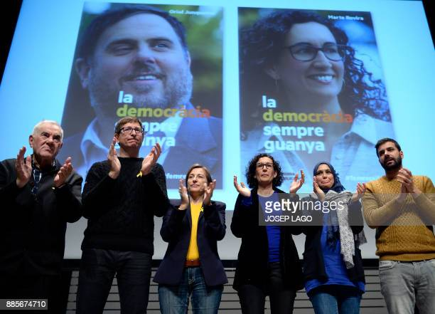 Former president of the Catalan parliament Carme Forcadell deposed Catalan regional government justice chief Carles Mundo and 'Esquerra Republicana...