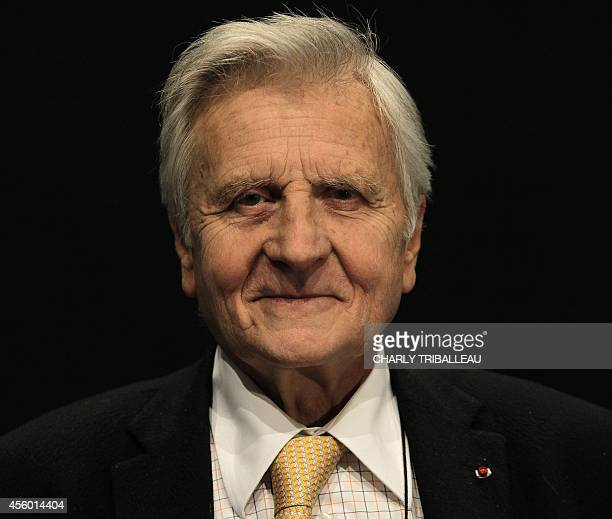 Former president of the European Central Bank JeanClaude Trichet poses while taking part in the 'Positive Economy Forum' on September 24 2014 in Le...