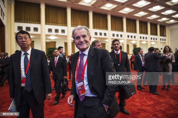 Former president of the European Commission Romano Prodi arrives at the opening ceremony of the 'CPC in dialogue with world political parties...