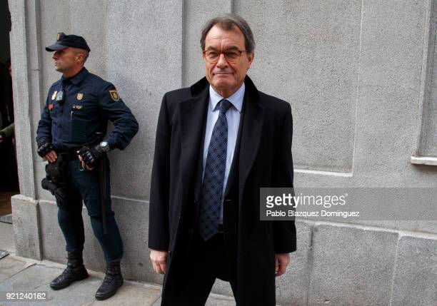 Former President of the Generalitat of Catalonia Artur Mas leaves the Supreme Court on February 20 2018 in Madrid Spain Some Catalan Proindependence...