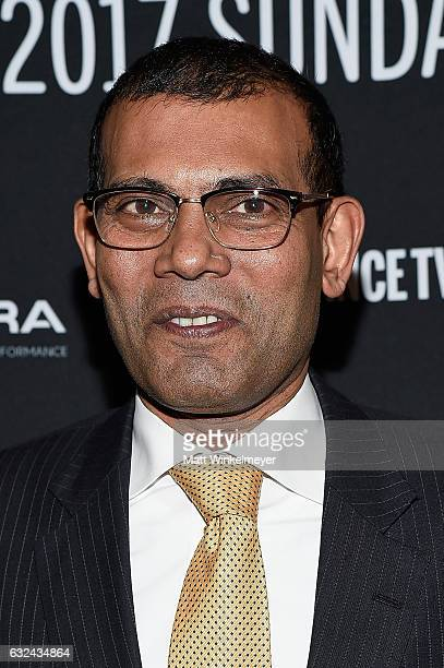 Former President of the Maldives Mohamed Nasheed attends the New Climate Lunch Roundtable on day 4 of the 2017 Sundance Film Festival at Wahso Asian...