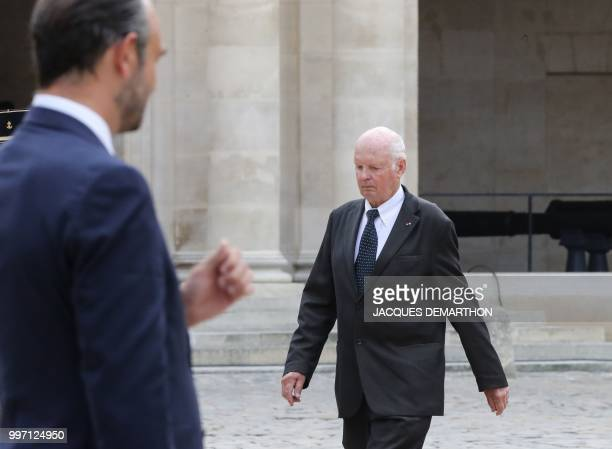 Former President of the National Consultative Ethics Committee Didier Sicard arrives to take part in a tribute ceremony to French filmmaker and...