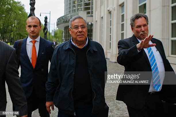 Former President of the Nicaraguan Football Federation Julio Rocha exits the Court of the Eastern District on May 18 2016 in Brooklyn New York ExFIFA...