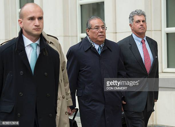 Former President of the Nicaraguan Football Federation Julio Rocha exits the Court of the Eastern District in Brooklyn New York on December 7 2016...