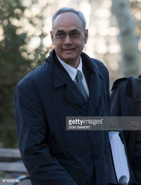 Former president of the Peruvian Football Association Manuel Burga one of three defendants in the FIFA scandal arrives at the Federal Courthouse in...