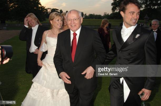 Former President of the Soviet Union Mikhail Gorbachev his daughter Irina Virganskaya and President of the Raisa Gorbachev Foundation Evgeny Lebedev...