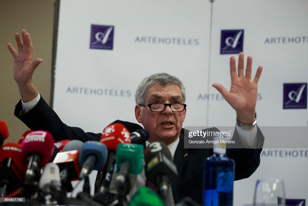 Former Spanish FA President Angel Maria Villar Press Conference