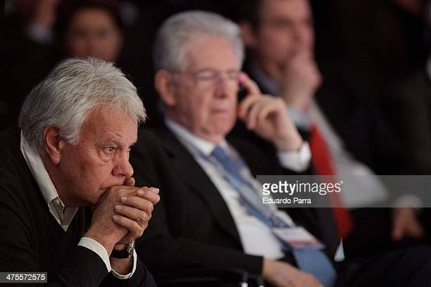 Former President of the Spanish Government Felipe Gonzalez attends 'Proyecto Europa' press conference at Casa de America on February 28 2014 in...