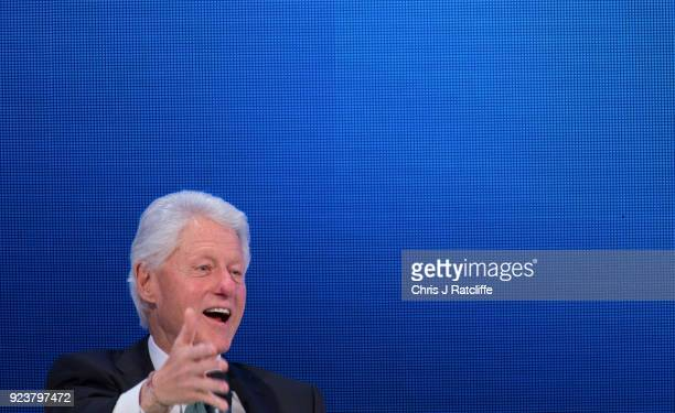 Former President of the United States Bill Clinton take questions after delivering a keynote speech at the 6th Annual World Patient Safety Science...