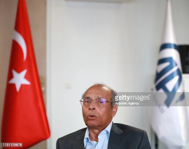 Former President of Tunisia, Moncef Marzouki speaks to Anadolu Agency during an exclusive interview in Paris, France on June 21, 2019.