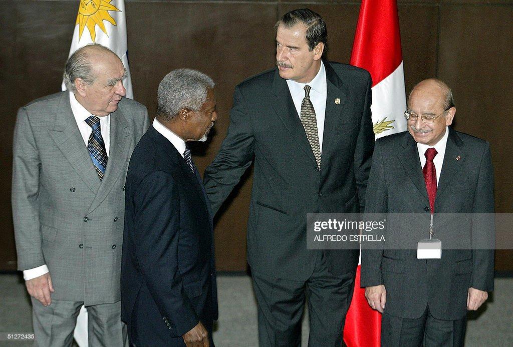 Former President of Uruguay, Julio Maria : News Photo