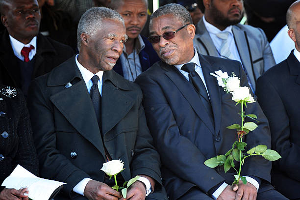 funeral service of epainette mbeki photos and images