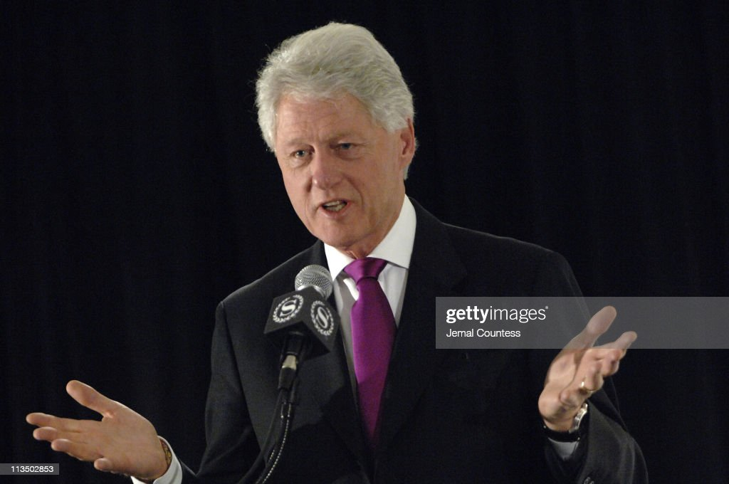 Former President William Jefferson Clinton speaks at the Ninth Annual National Action Network Convention at the New York Sherato
