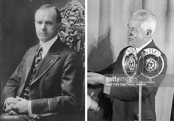 In this composite image a comparison has been made between former US Presidential Candidates Calvin Coolidge and John W Davis In 1924 Calvin Coolidge...