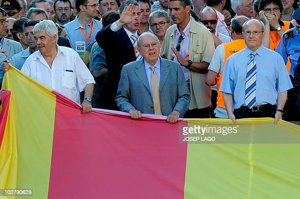 Former Presidents of the Catalonia regional government Jordi Pujol Pascual Maragall and a President of a Catalonia regional government Jose Montilla...