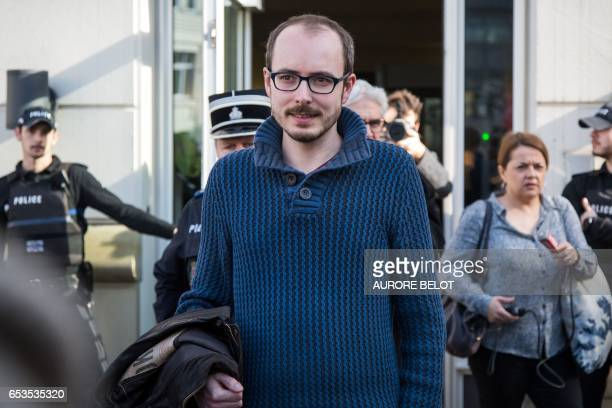 Former PricewaterhouseCoopers employee Antoine Deltour leaves the Luxembourg Court of Appeal on March 15 2017 in Luxembourg after the court gave...