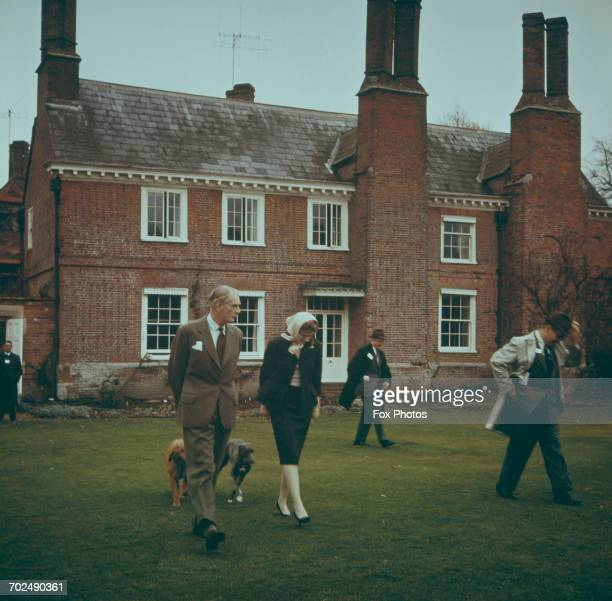 Former Prime Minister Anthony Eden and his wife Clarissa Lord and Lady Avon at their home in Wiltshire 1965