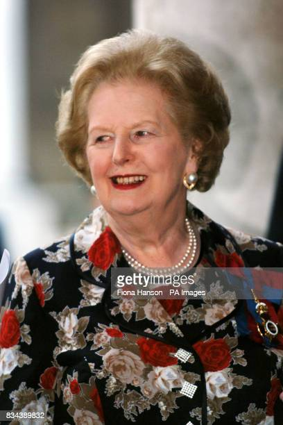 Former Prime Minister Baroness Thatcher at the Royal Naval College Greenwich London for a Heroes Dinner celebrating the achievements of members of...