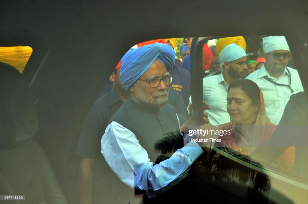 Former Prime Minister Dr Manmohan Singh after paying obeisance at Golden Temple on March 25 2018 in Amritsar India On Saturday the former prime...