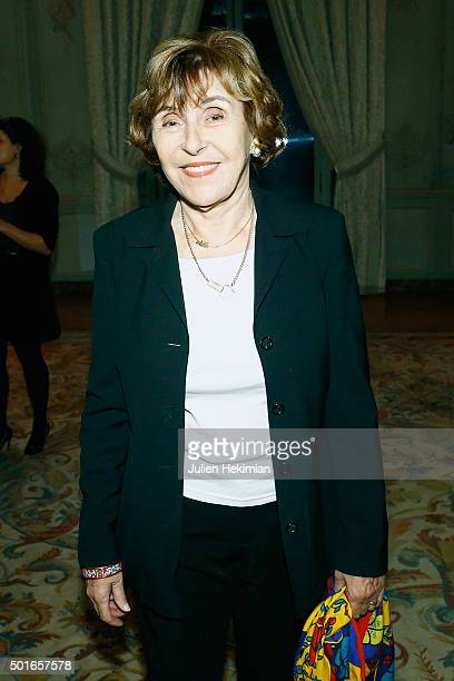 Former Prime Minister Edith Cresson attends the annual dinner hosted by US Ambassador Jane Hartley on December 16 2015 in Paris France