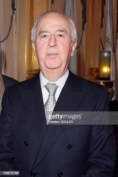 Former Prime Minister Edouard Balladur in Paris France on March 19 2008