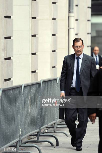 Former Prime Minister Edouard Balladur's former cabinet chief and presidential campaign manager Nicolas Bazire arrives for an hearing at Paris...