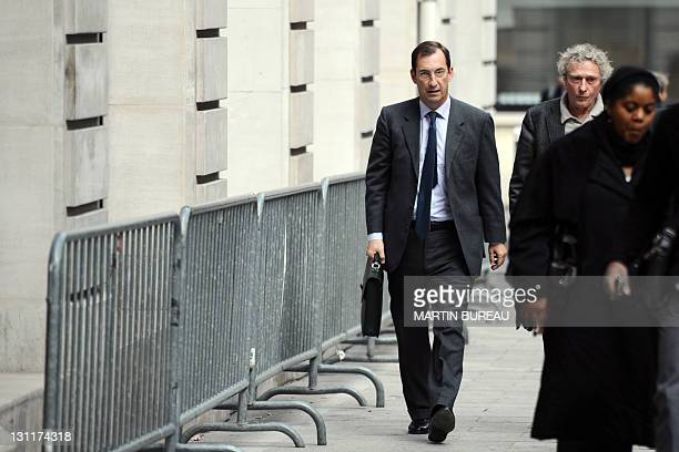 Former Prime Minister Edouard Balladur's former cabinet chief and presidential campaign manager Nicolas Bazire and his lawyer JeanYves Lienard arrive...