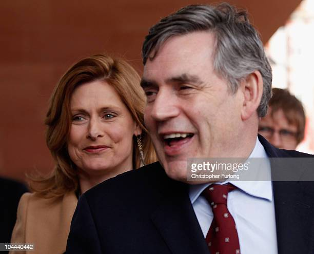 Former prime minister Gordon Brown and his wife Sarah arrive for the annual Labour Party Conference on September 25 2010 in Manchester England Ed...
