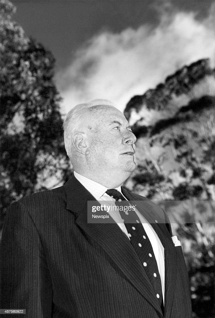 Former Prime Minister Gough Whitlam at the University of New South Wales in Sydney, New South Wales.
