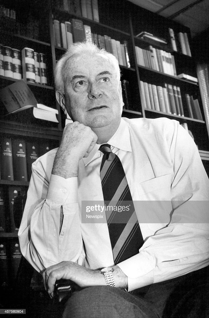 Former Prime Minister Gough Whitlam pictured in Sydney, New South Wales.