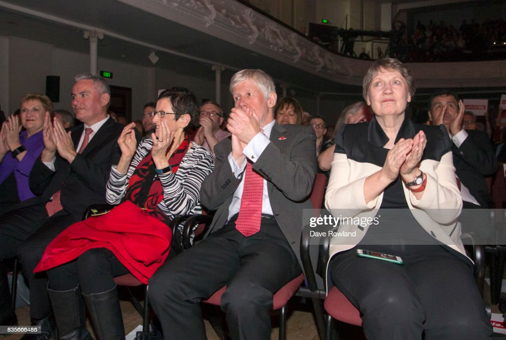 Former Prime Minister Helen Clark applauds Jacinda Ardern, Leader of the Labour Party & MP for Mt Albert on her speech at the party campaign launch on August 20, 2017 in Auckland, New Zealand. The New Zealand general election will be held on September 23, 2017.