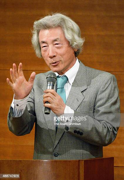 Former prime minister Junichiro Koizumi attends the inauguration ceremony of the Japan Assembly for Nuclear Free Renewable Energy on May 7 2014 in...