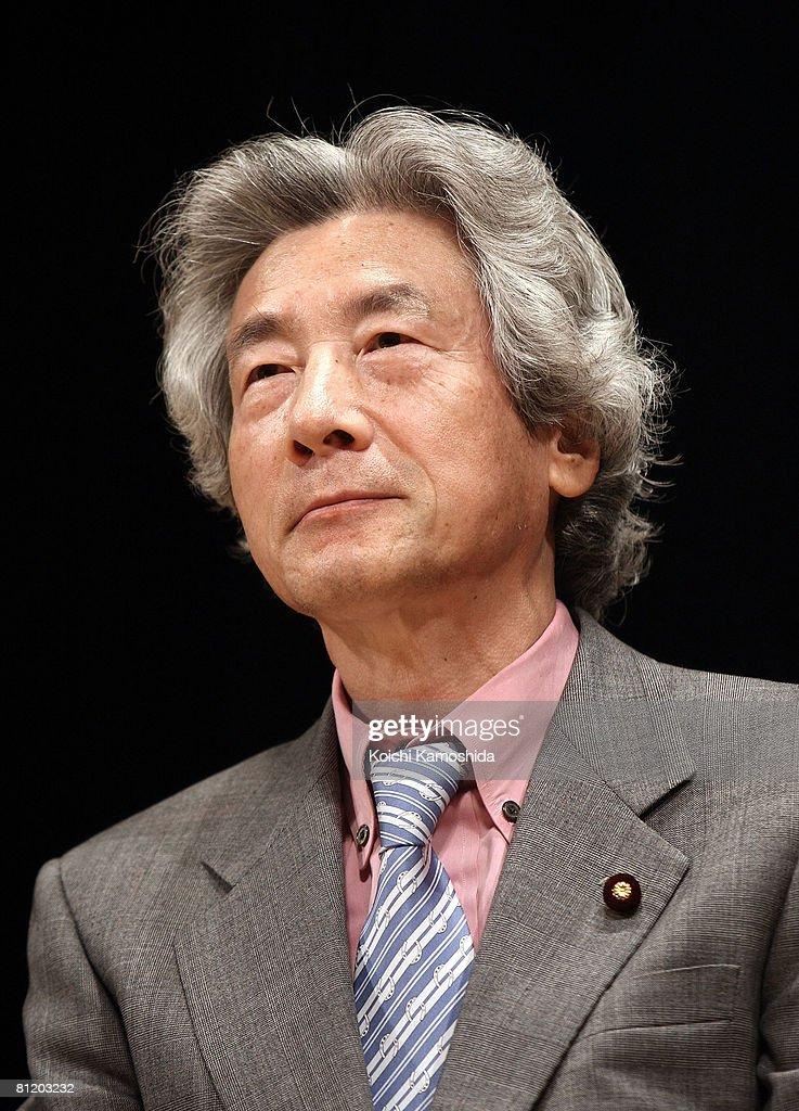 Former PM Koizumi Predicts Dissolution Of the predicted dissolution of the parliament After Summit : News Photo
