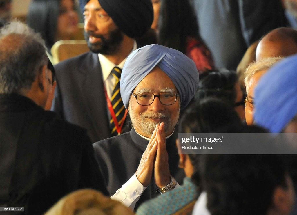 Former prime minister Manmohan Singh during Capt Amrinder Singh oath ceremony The oath was administered by Punjab Governor VP Singh Badnore at Punjab.