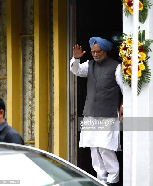 Former Prime Minister Manmohan Singh during the 1st Prof SB Rangekar Memorial oration on the 70th Anniversary of our independence strengthening the...