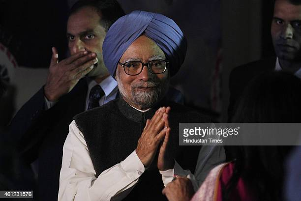 Former Prime Minister Manmohan Singh during the Gala Award Night Organised by Global Punjabi Society on January 9 2015 in New Delhi India