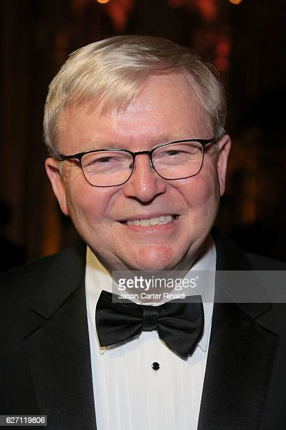 Former Prime Minister of Australia Kevin Rudd attends The Berggruen Prize Gala Honoring Philosopher Charles Taylor at New York Public Library Astor...