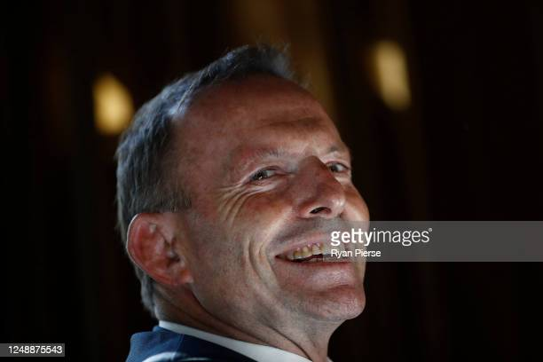 Former Prime Minister of Australia Tony Abbott attends the launch of 'Life, Love & Marriage' by Christine Forster on June 11, 2020 in Sydney,...