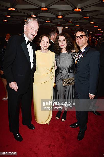 Former Prime Minister of Canada Jean Chretien with wife Aline Chretien, Arsinee Khanjian, and director Atom Egoyan attend the Governor General's...
