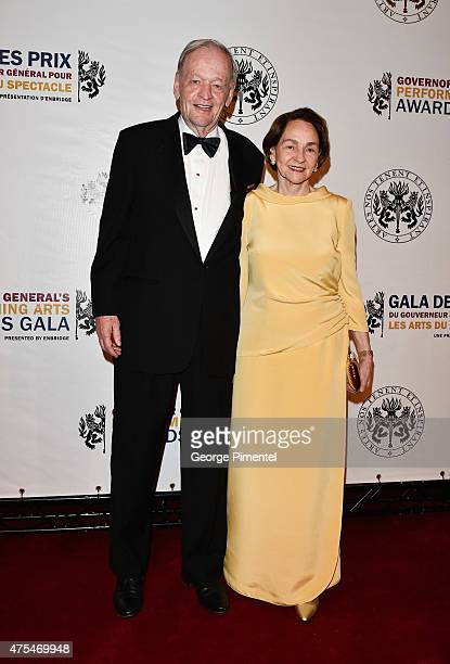 Former Prime Minister of Canada Jean Chretien with wife Aline Chretien attend the Governor General's Performing Arts Awards Gala at National Arts...