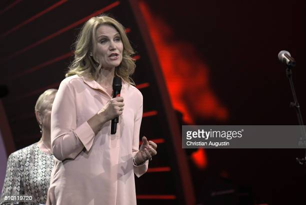 Former Prime Minister of Danmark Helle Thorning Schmidt attends the Global Citizen Festival at the Barclaycard Arena on July 6 2017 in Hamburg Germany