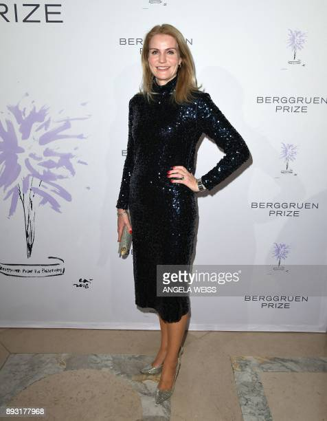 Former Prime Minister of Denmark Helle ThorningSchmidt attends the 2017 Berggruen Prize Gala at the New York Public Library on December 14 2017 in...
