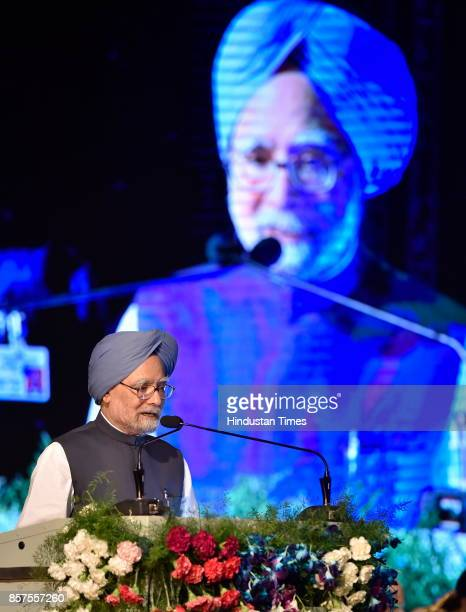 Former Prime Minister of India Dr Manmohan Singh during the inauguration of academic session of Bengaluru Dr B R Ambedkar School of Economics on...