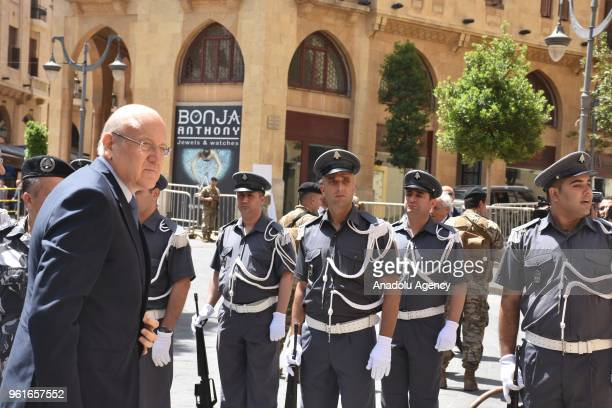 Former Prime Minister of Lebanon Najib Mikati participates in an extraordinary session at Parliament building for the Parliament speaker election in...