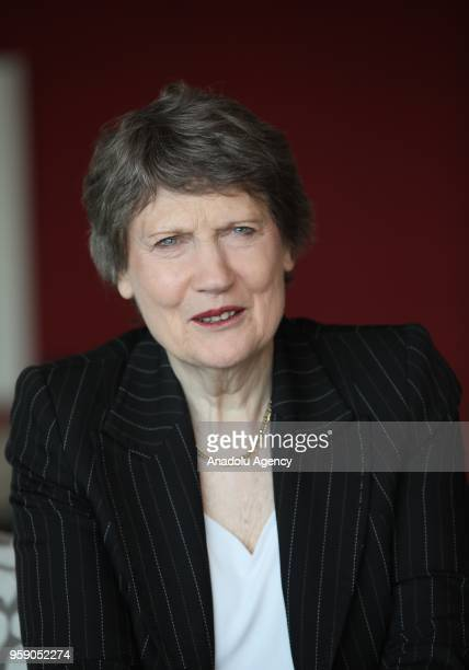 Former Prime Minister of New Zealand Helen Clark speaks during an exclusive interview within the 21st Flying Broom International Women's Film...